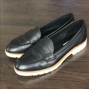 Dune leather loafers
